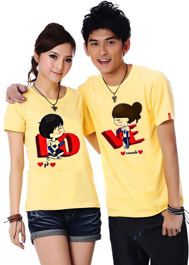 Bộ Áo Thun Đôi Nam Nữ Love Màu Vàng - 786799 , 7282060940035 , 62_9453836 , 250000 , Bo-Ao-Thun-Doi-Nam-Nu-Love-Mau-Vang-62_9453836 , tiki.vn , Bộ Áo Thun Đôi Nam Nữ Love Màu Vàng
