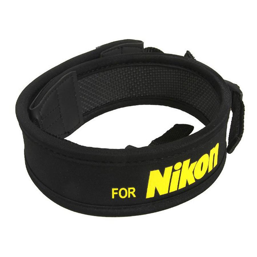 Dây Đeo Chống Mỏi Cho Máy Ảnh Nikon Chữ Vàng