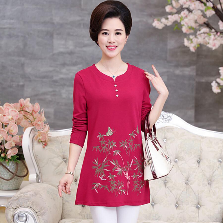 Áo Xuân Thu Tay Lỡ Cho Phụ Nữ Trung Niên Yu Zhaolin YWTX187411