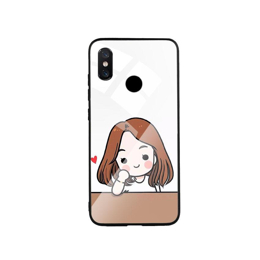 Ốp Lưng Kính Cường Lực cho điện thoại Xiaomi Mi 8 - Couple Girl 03