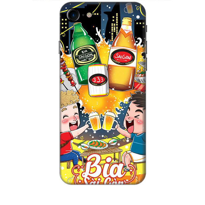 Ốp lưng dành cho điện thoại IPHONE 8 Hình Bia Sài Gòn - Hàng chính hãng