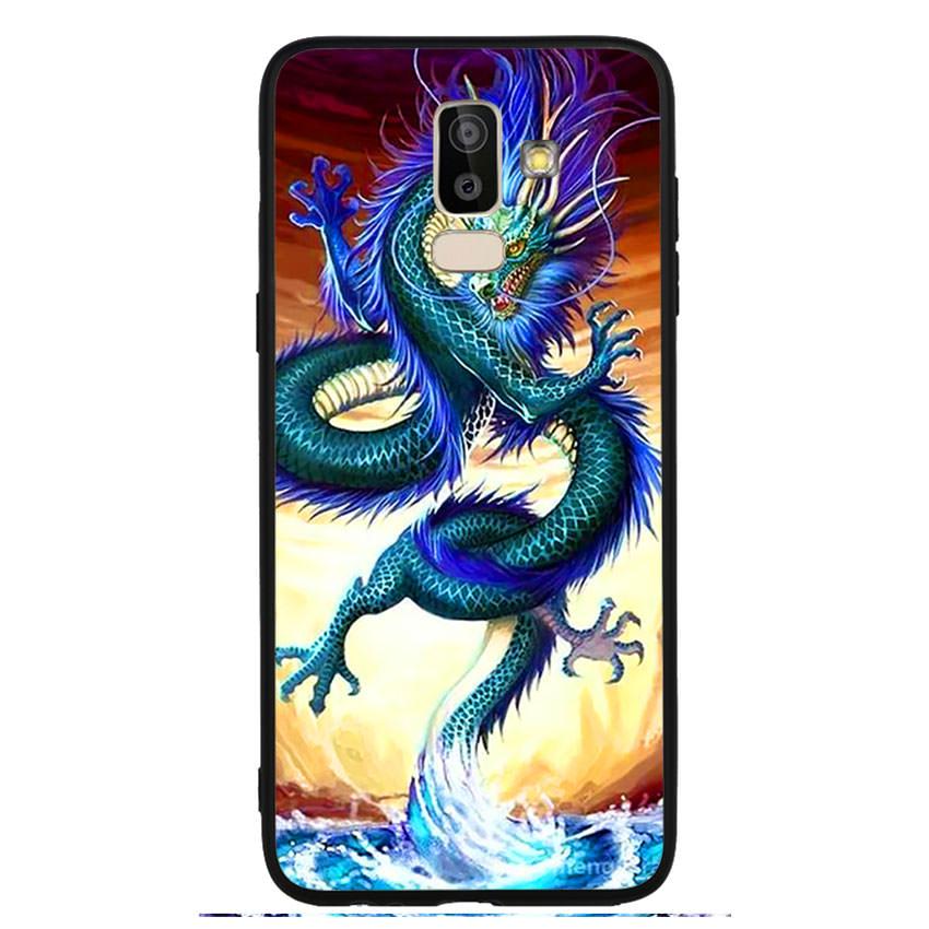Ốp lưng nhựa cứng viền dẻo TPU cho điện thoại Samsung Galaxy J8 -Dragon 10