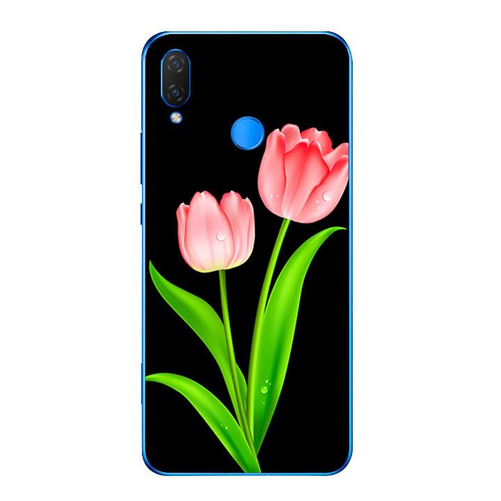 Ốp lưng dẻo cho điện thoại Huawei Y9 2019 - Hoa Tulip 01