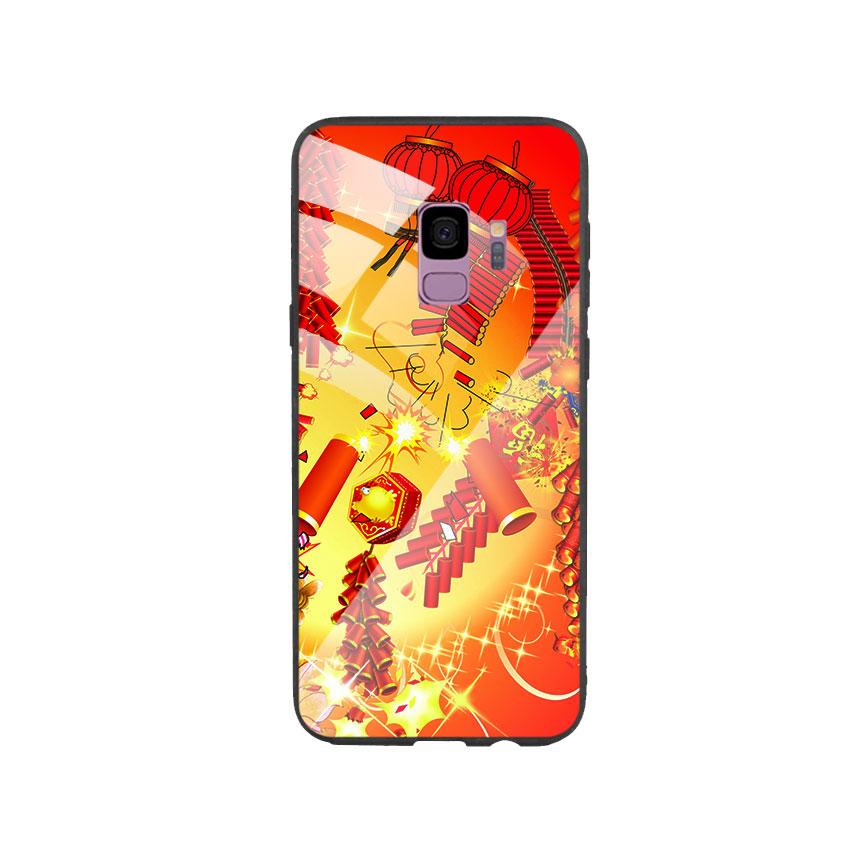 Ốp Lưng Kính Cường Lực cho điện thoại Samsung Galaxy S9 - Firework 02