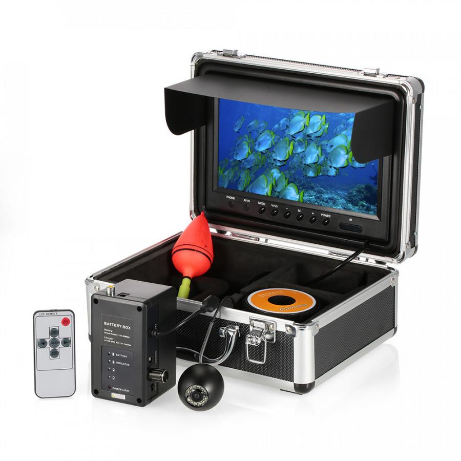 "Professional Fish Finder Underwater Fishing Camera 9"" Color LCD Large Screen Monitor Waterproof 1000TVL HD Fishing"