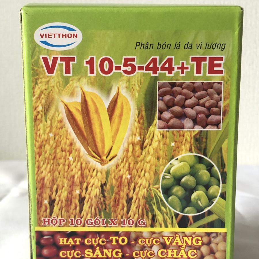 Phân bón lá cao cấp Việt Thôn đa vi lượng VT 10-5-44 +TE tăng cường dinh dưỡng cho cây lấy hạt hoa màu (Hộp 10gói x... - 1294892 , 8861188994350 , 62_14258722 , 119000 , Phan-bon-la-cao-cap-Viet-Thon-da-vi-luong-VT-10-5-44-TE-tang-cuong-dinh-duong-cho-cay-lay-hat-hoa-mau-Hop-10goi-x...-62_14258722 , tiki.vn , Phân bón lá cao cấp Việt Thôn đa vi lượng VT 10-5-44 +TE tăn