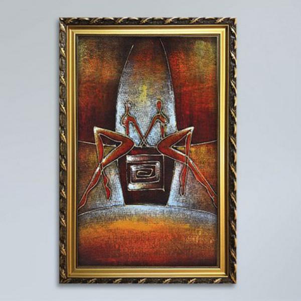 Tranh Sơn Dầu Trừu Tượng Hai Cô Gái Canvas W1143