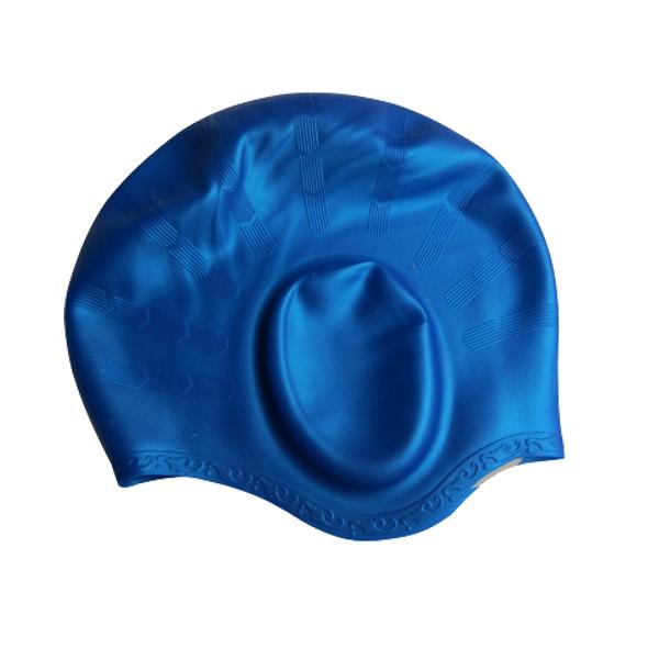 Nón bơi mũ bơi Silicon che tai CQ (Dòng cao cấp)
