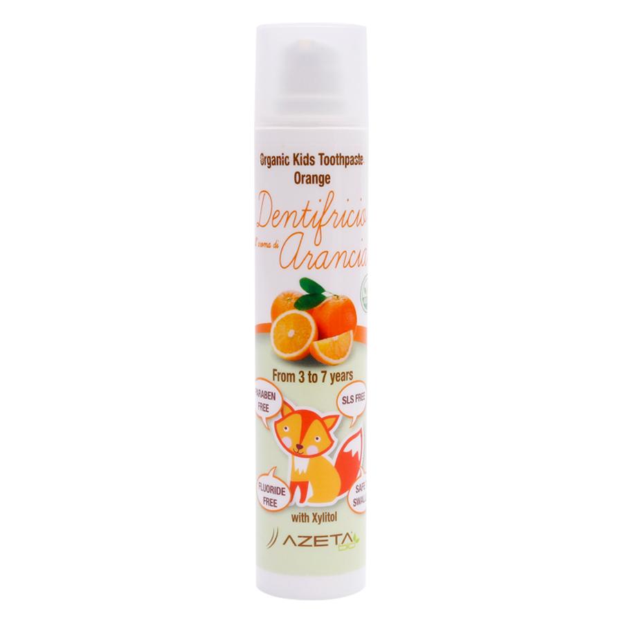 Gel Đánh Răng Vị Cam Organic Toothpaste Orange Azeta Bio GDR005 (50ml)