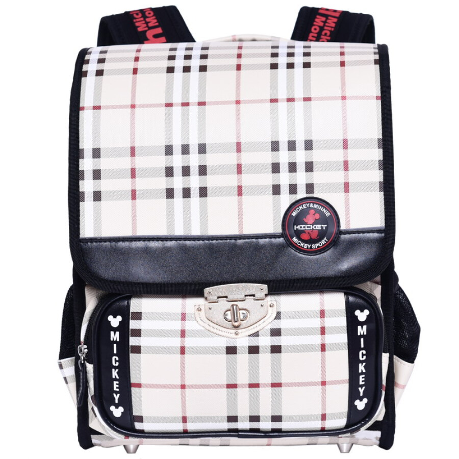 Disney (Elementary Schoolboy) English bag of young children bag backpack men and women 1 to 3 grade school bag DB96099-C khaki