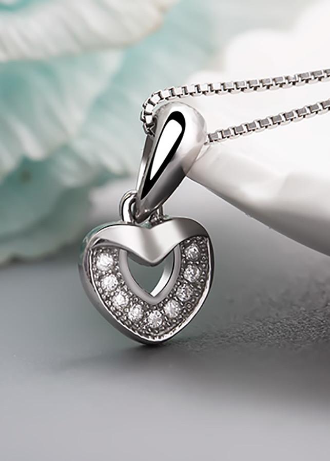 Mặt dây chuyền bạc Shine Heart( Freesize)