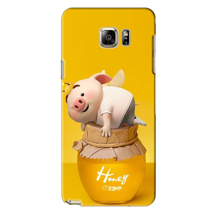 Ốp lưng nhựa cứng nhám dành cho Samsung Galaxy Note 5 in hình Heo Cute