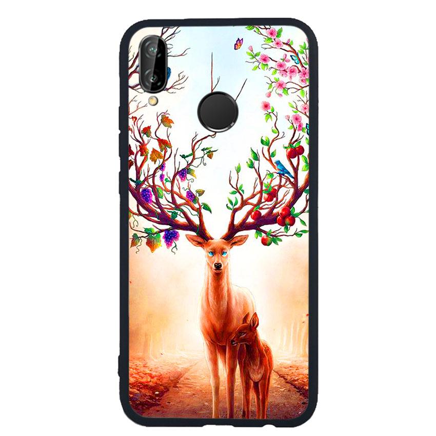 Ốp Lưng Viền TPU cho điện thoại Huawei Nova 3e -Deer 01