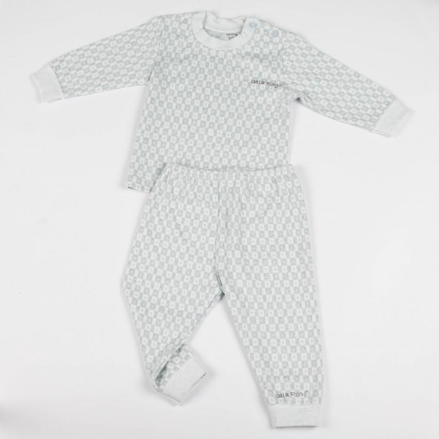 Bộ quần áo kẻ caro chấm dài tay cúc vai Uala Rogo - UR5051 - 1042174 , 8089837033032 , 62_6308535 , 271000 , Bo-quan-ao-ke-caro-cham-dai-tay-cuc-vai-Uala-Rogo-UR5051-62_6308535 , tiki.vn , Bộ quần áo kẻ caro chấm dài tay cúc vai Uala Rogo - UR5051