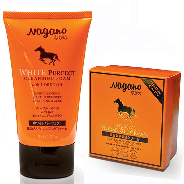 Combo sữa rửa mặt và kem trắng da dưỡng ẩm chiết xuất dầu ngựa NAGANO - 978064 , 2658461236193 , 62_2448365 , 1470000 , Combo-sua-rua-mat-va-kem-trang-da-duong-am-chiet-xuat-dau-ngua-NAGANO-62_2448365 , tiki.vn , Combo sữa rửa mặt và kem trắng da dưỡng ẩm chiết xuất dầu ngựa NAGANO