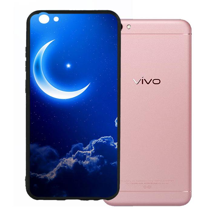 Ốp lưng viền TPU cho Vivo V5 - Moon 01
