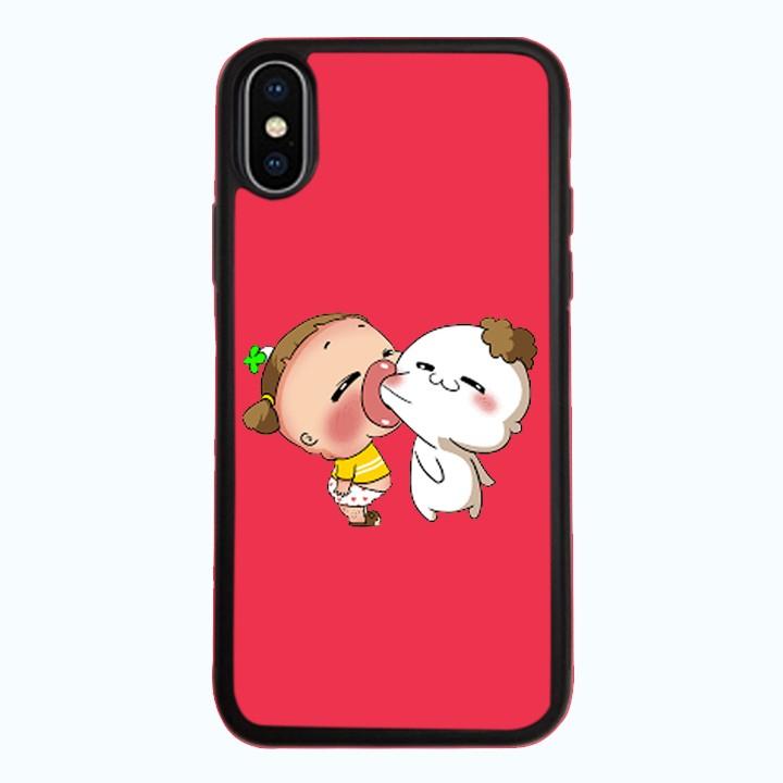Ốp Lưng Kính Cường Lực Dành Cho Điện Thoại iPhone X Quỳnh AKA Mẫu 5