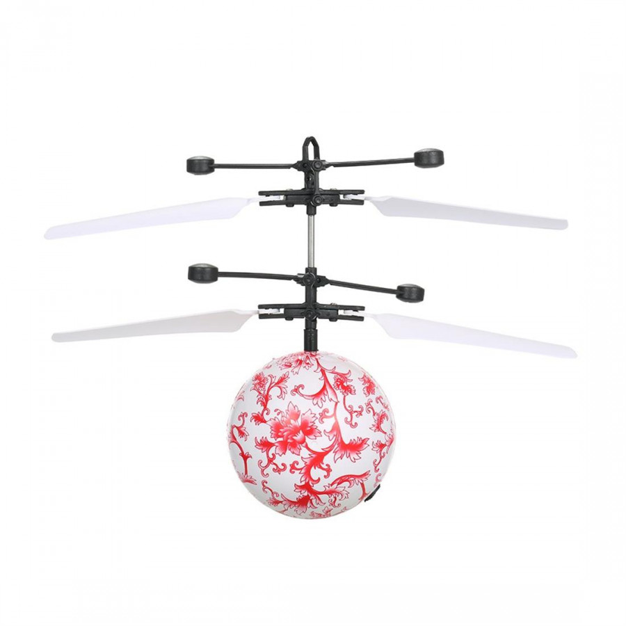 Suspended Light Smart Sensors Emoticons Fly Ball Movement Aircraft Fly A Helicopter Infrared Induction Color Led Disco Light Ys Children