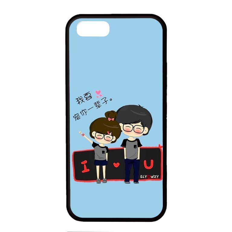 Ốp lưng dành cho điện thoại Iphone 5 Anime Couple LOVE