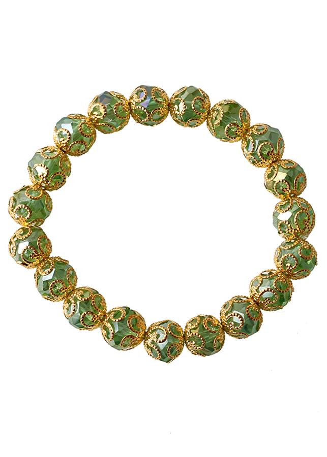 Vòng tay, vòng tay nữ thời trang cao cấp Green Leafy MK233