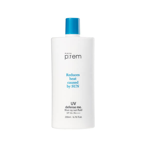 Kem chống nắng MAKE P:REM  UV defense me. Blue Ray Sun Fluid SPF 50+ PA++++