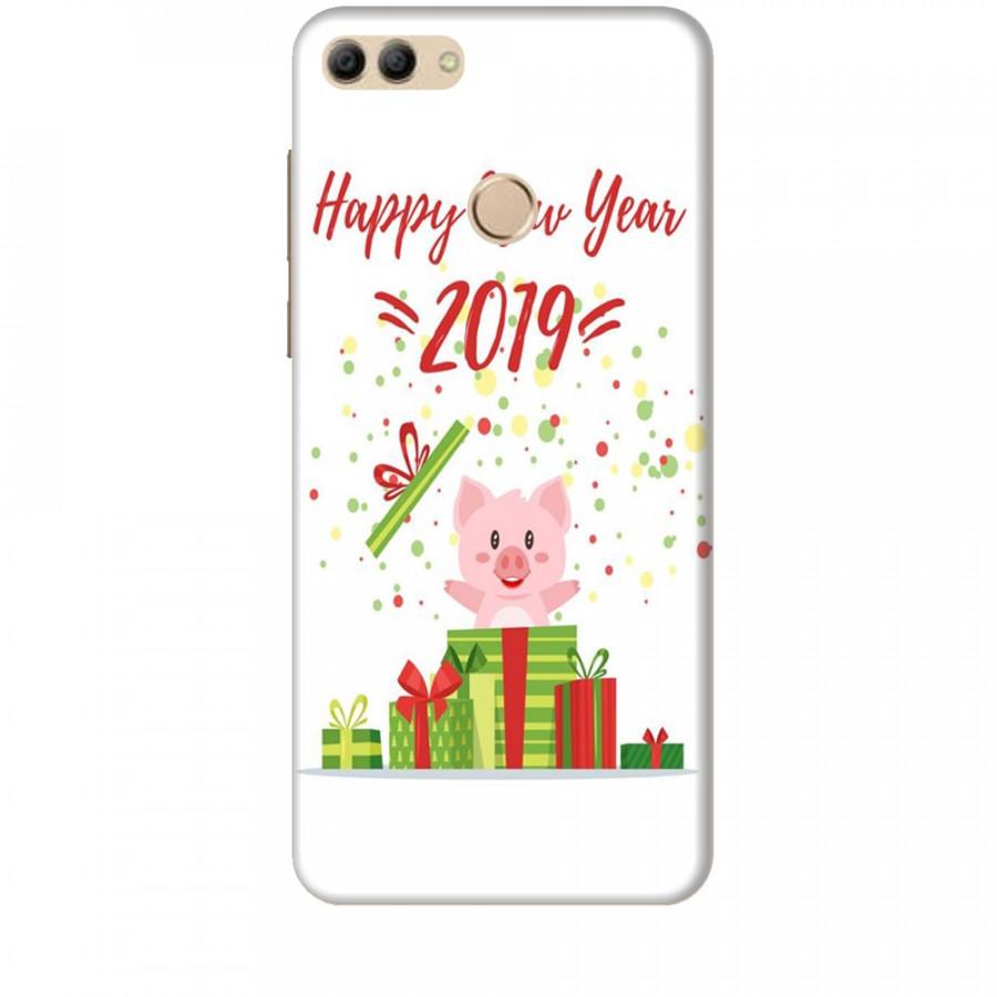 Ốp lưng dành cho điện thoại HUAWEI Y9 2018 Happy New Year Mẫu 3
