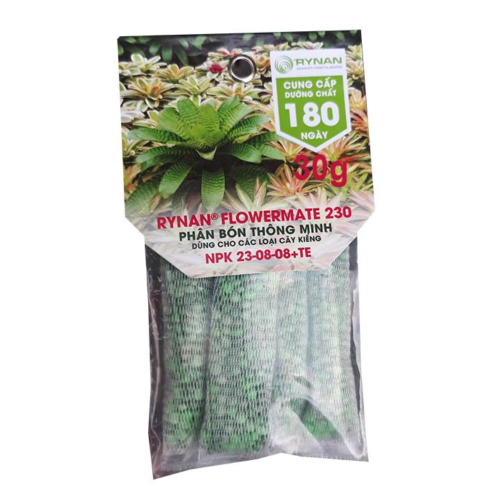 Phân Bón Thông Minh Rynan Flowermate 230 (Túi lọc 30g) - Dùng Cho Các Loại Hoa Kiểng