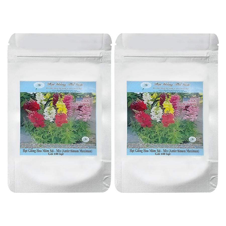 Bộ 2 Túi Hạt Giống Hoa Mõm Sói - Mix Nhiều Màu (Antirrhinum Maximun) (100Hạt x 2)