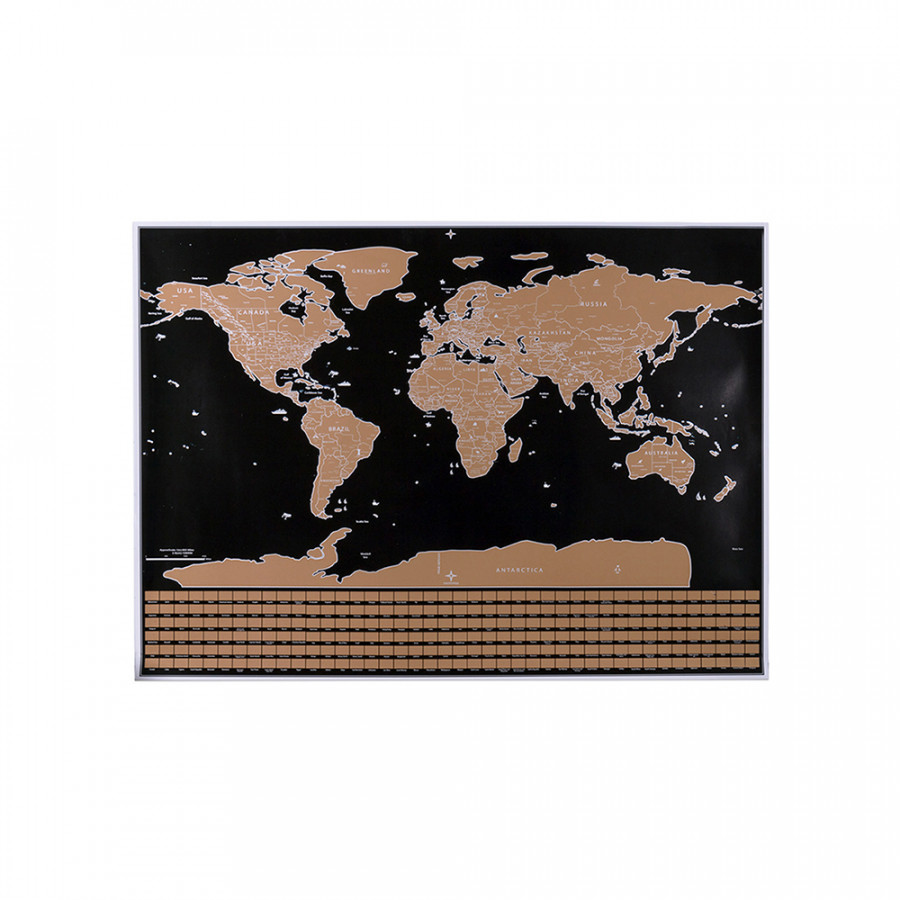 Scratch Off Map Interactive Vacation Poster World Travel Maps Poster Erasable Copper Foil Wall Sticker Personalized