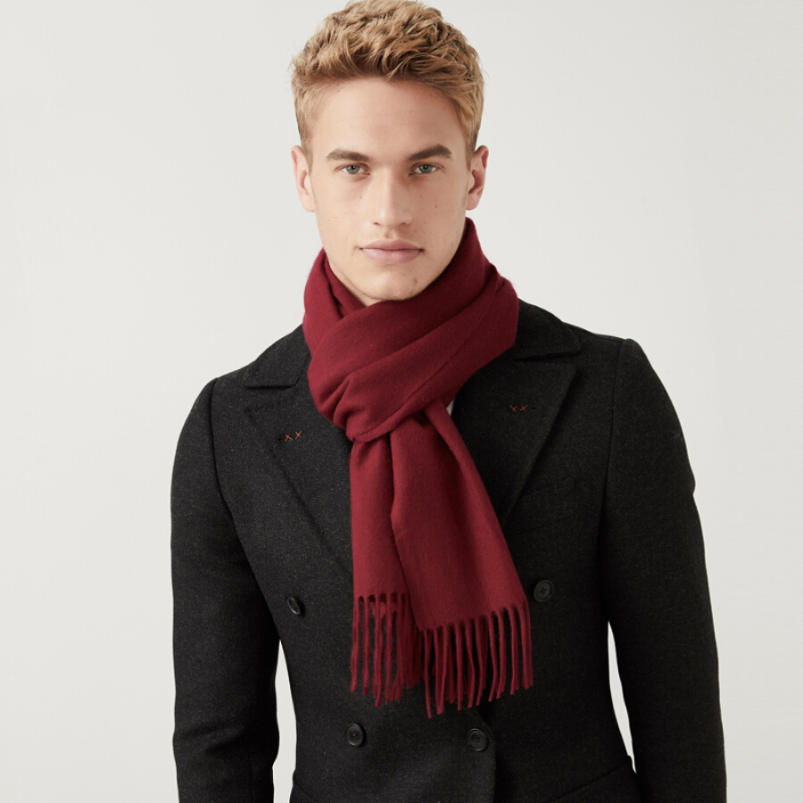 Hengyuanxiang autumn and winter cashmere scarf men
