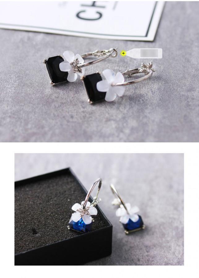 Bông Tai Crystal Flower Korea Style Liti - 2070