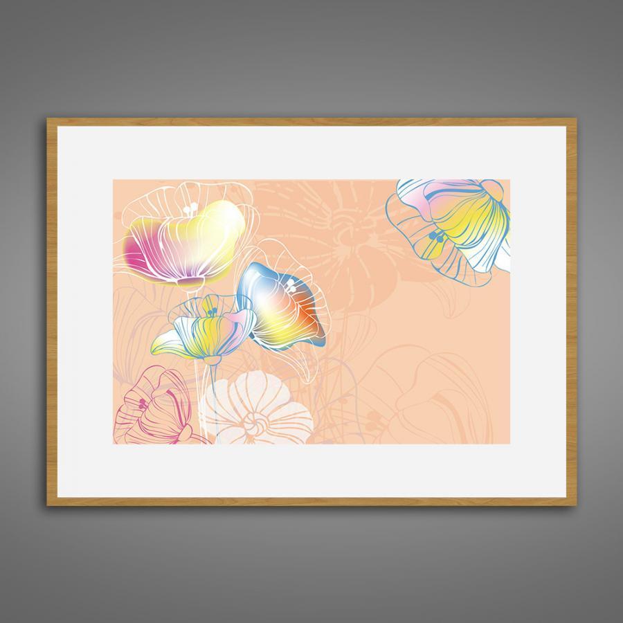 Khung tranh Canvas đơn hoa lá 39
