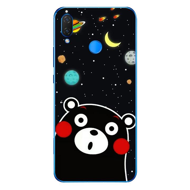 Ốp lưng dẻo Nettacase cho điện thoại Huawei Y9 2019_0345 BEAR03 - Hàng Chính Hãng
