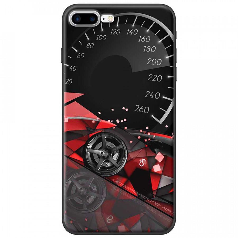 Ốp lưng dành cho iPhone 7 Plus mẫu Đồng hồ tốc độ đỏ