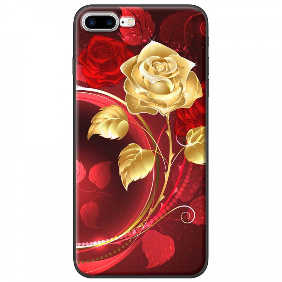 Ốp lưng  dành cho iPhone 7 Plus mẫu Bình hoa hồng