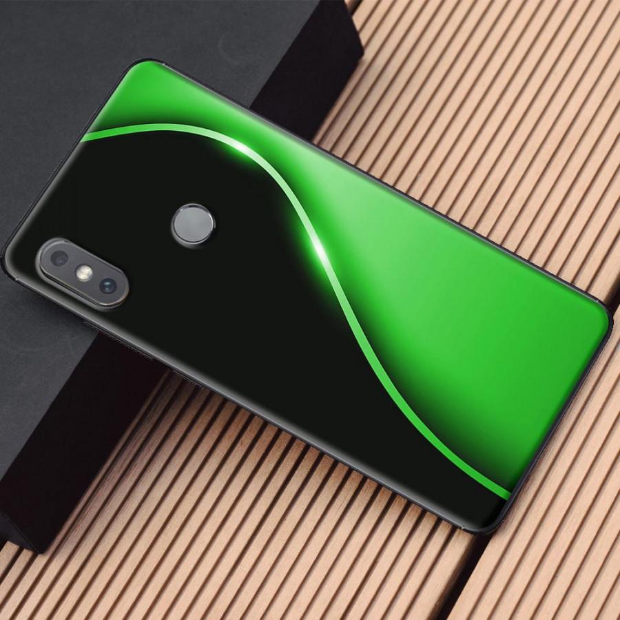 Ốp lưng dành cho Xiaomi Mi Mix 2S mẫu Đường cong chữ S xanh lá