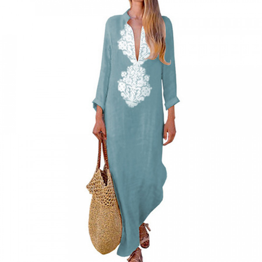 Jurken Zomer 2019 Beach Dresses Comfortable M-2XL Linen Lady Travel