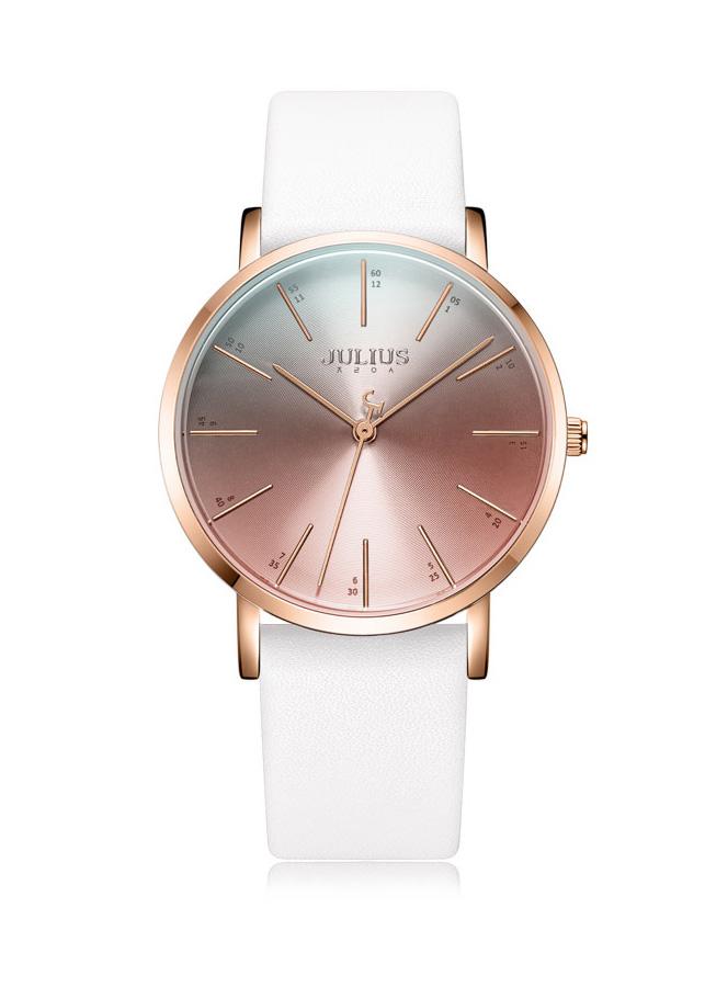 Đồng hồ nữ Julius JA1161 dây da trắng