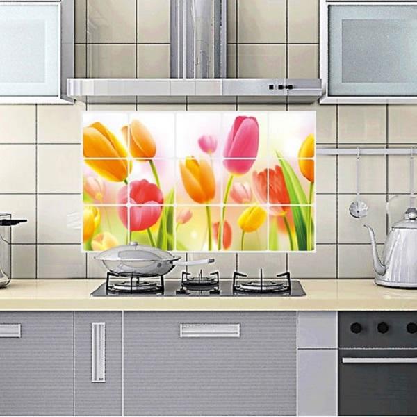 Combo 2 tấm Decan dán bếp size 90 x 60 - hình ngẫu nhiên