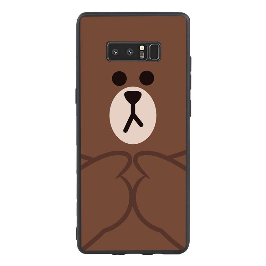 Ốp lưng nhựa cứng viền dẻo TPU cho điện thoại Samsung Galaxy Note 8 - Brown 09