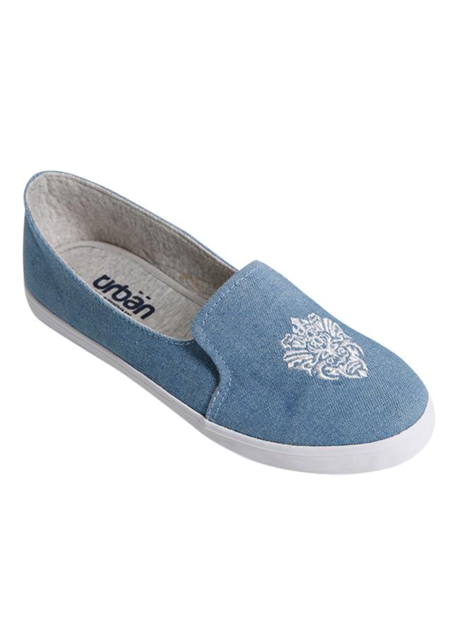 Giày Slip On Nữ Urban UL1704 Bò - Xanh