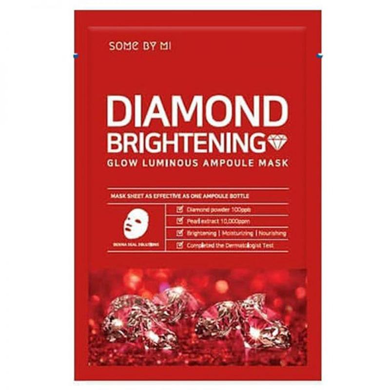 Combo 15 Mặt nạ dưỡng trắng Some By Mi Diamond Brightening Sheet Mask 25g + Tặng 3 mặt nạ