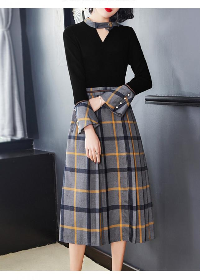 Đầm Trung Niên_Đầm xòe_đầm dự tiệc_váy trung niên_HDX004