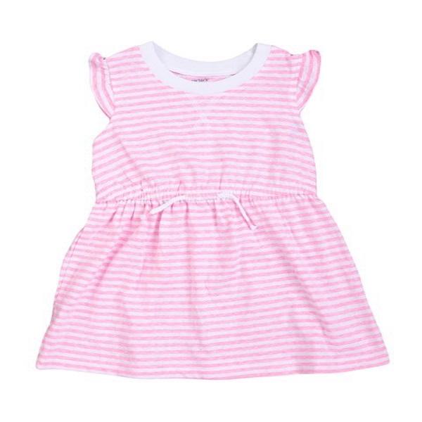 Váy kẻ hồng cho bé gái