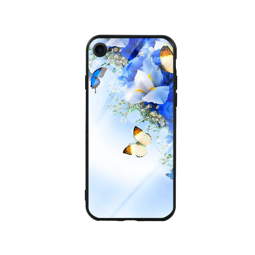 Ốp lưng kính cường lực cho điện thoại Iphone 7/8 - Butterfly 04