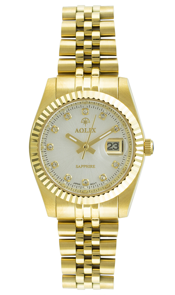 Đồng hồ Aolix AL-9147L nữ dây thép vàng mặt trắng - 1531196 , 6240133784406 , 62_15580813 , 3990000 , Dong-ho-Aolix-AL-9147L-nu-day-thep-vang-mat-trang-62_15580813 , tiki.vn , Đồng hồ Aolix AL-9147L nữ dây thép vàng mặt trắng