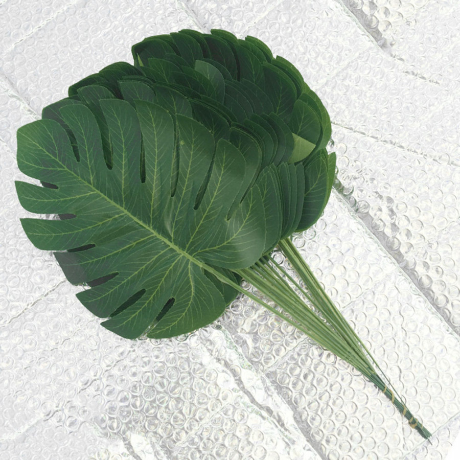 Fake Plant Artificial Leaves Simulation 40*18*0.05cm Plastic Silk Garden Real Touch