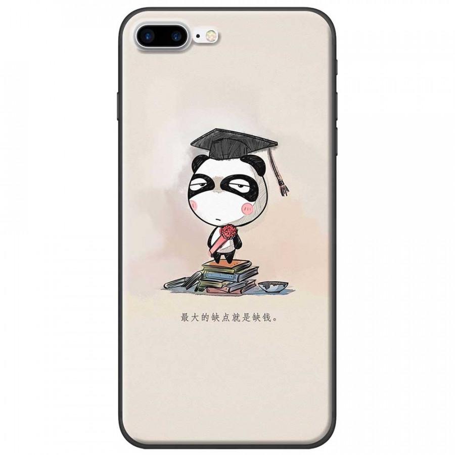 Ốp lưng dành cho iPhone 7 Plus mẫu Panda mọt sách