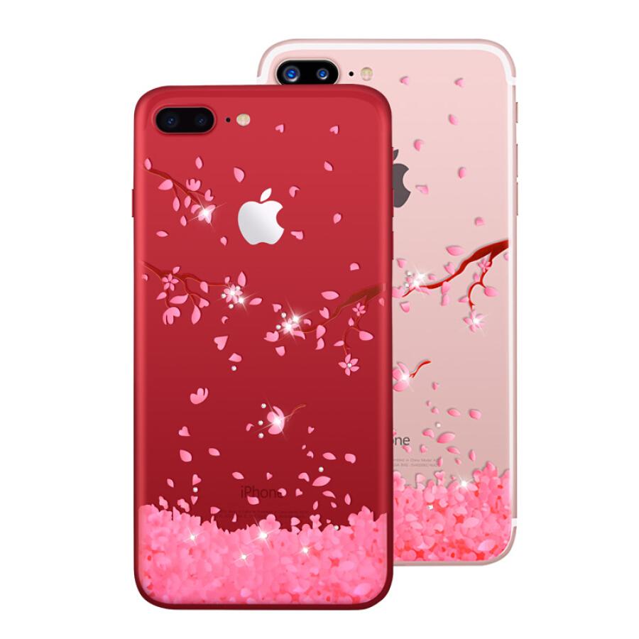 Ốp Nhựa Dẻo Cho Iphone 7Plus/8 Plus Họa Tiết Hoa Anh Đào PZOZ