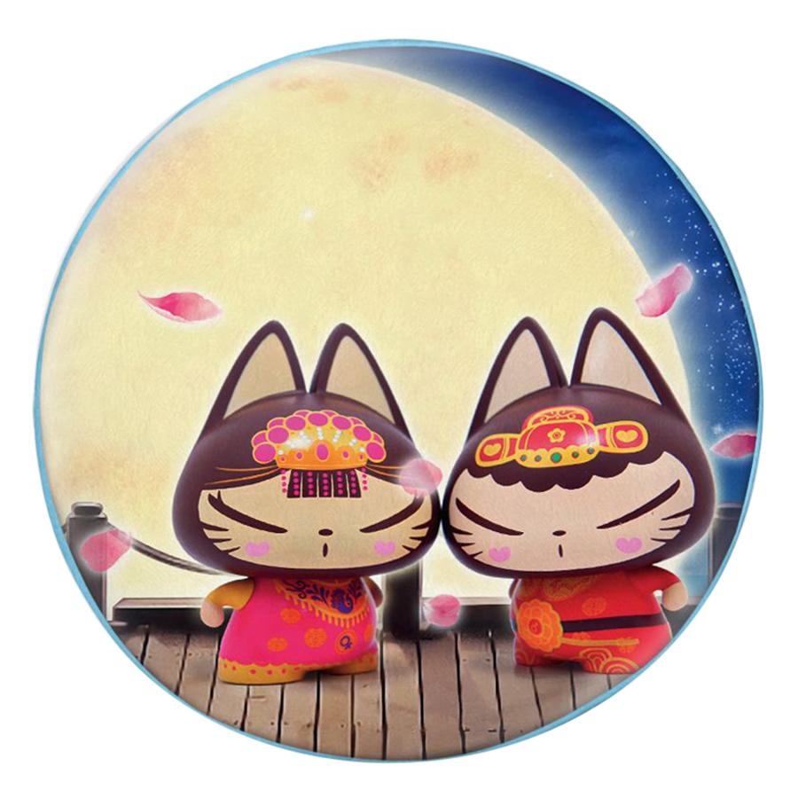 Gối Ôm Tròn In Hình Mèo Tân Lang Tân Nương - GOCP277